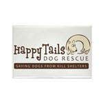 Happy Tails Dog Rescue Rectangle Magnet (100 pack)