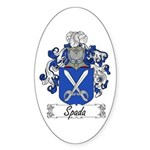 Spada Family Crest Oval Sticker