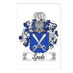 Spada Family Crest Postcards (Package of 8)