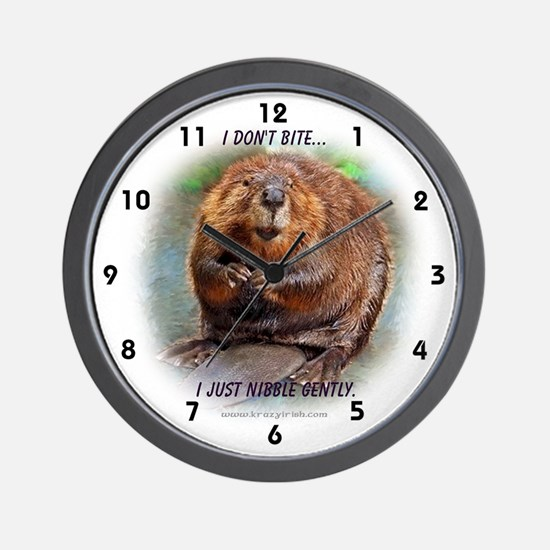 Nibble Gently Beaver Wall Clock