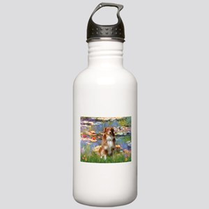 Lilies2-Aussie Shep (#4) Stainless Water Bottle 1.