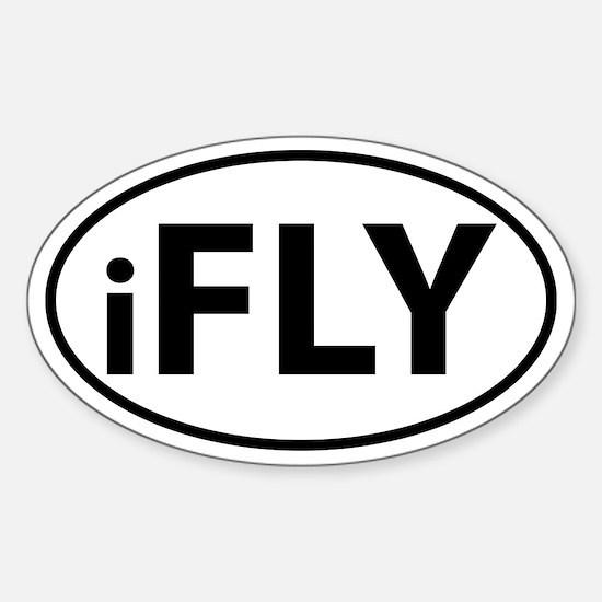 iFly oval sticker Sticker (Oval)