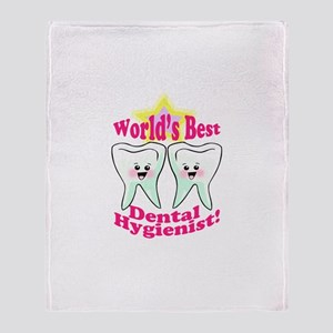 Worlds Best Dental Hygienist Throw Blanket