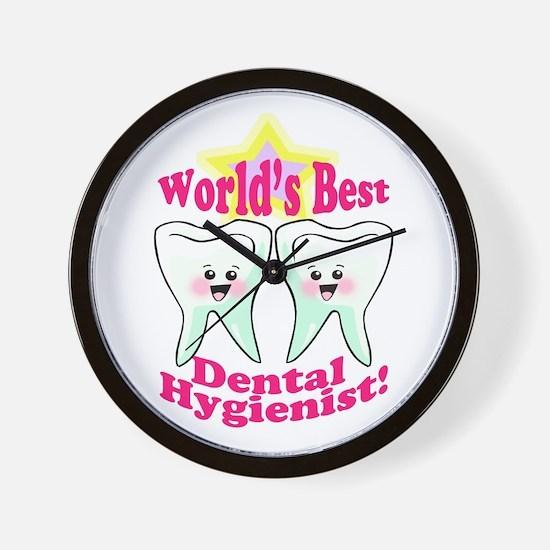 Worlds Best Dental Hygienist Wall Clock