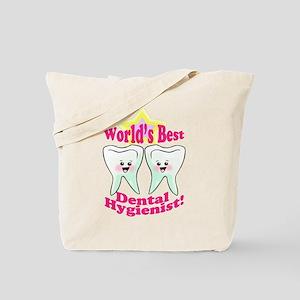 Worlds Best Dental Hygienist Tote Bag
