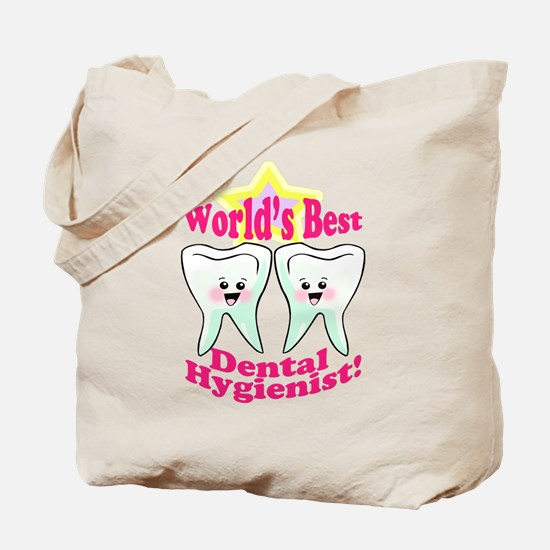 Worlds Best Dental Hygienist Tote Bag