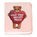 Love You Beary Much baby blanket