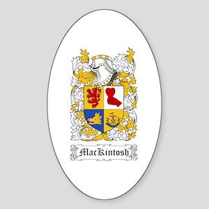 MacKintosh Sticker (Oval)