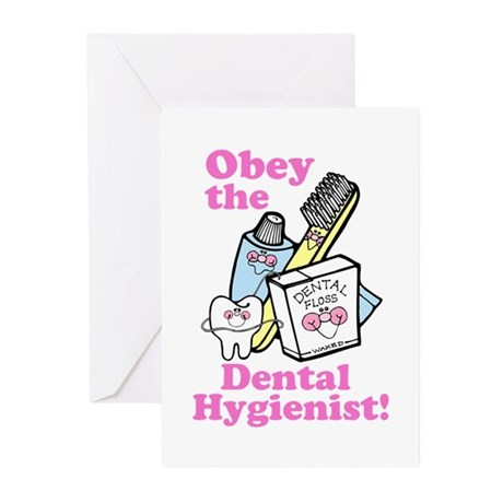 Obey the Dental Hygienist Greeting Cards (Pk of 10