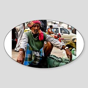 Delhi man Sticker (Oval)