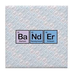 Elements of Banding Tile Coaster