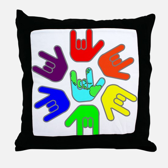 Love of Many Colors Throw Pillow