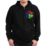 Love of Many Colors Zip Hoodie (dark)