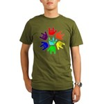 Love of Many Colors Organic Men's T-Shirt (dark)