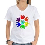 Love of Many Colors Women's V-Neck T-Shirt