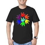 Love of Many Colors Men's Fitted T-Shirt (dark)