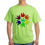 Love of Many Colors Green T-Shirt