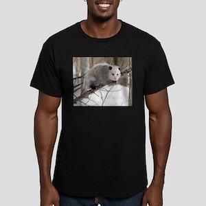 Opossum Love Men's Fitted T-Shirt (dark)