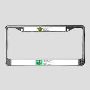 Gun Control License Plate Frame