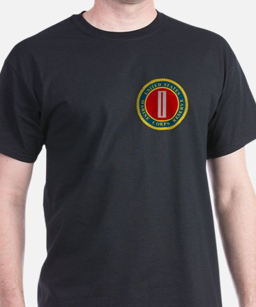 USMCR CWO5<BR> Black T-Shirt