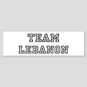 Team Lebanon Bumper Sticker
