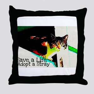 Adopt a Stray Throw Pillow