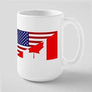 Canadian American Flag Large Mug