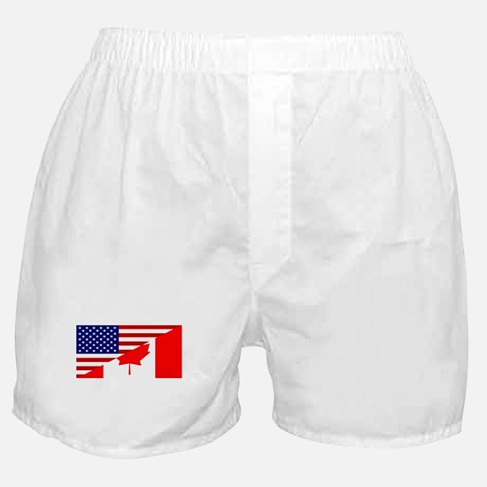Canadian American Flag Boxer Shorts