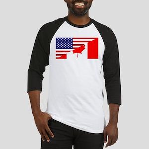 Canadian American Flag Baseball Jersey