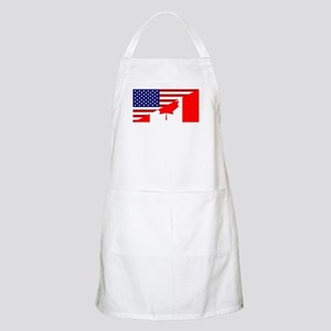 Canadian American Flag Apron