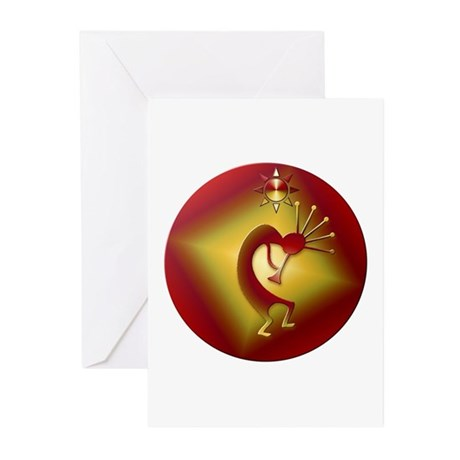 Bronze & Gold Kokopelli Greeting Cards (Pk of 20)
