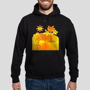 Orange & Gold Kokopelli Hoodie (dark)