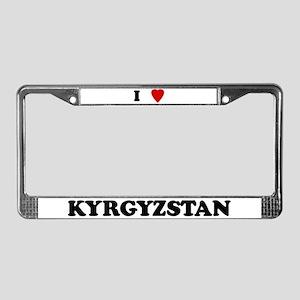 I Love Kyrgyzstan License Plate Frame