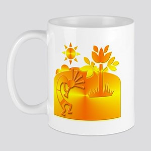 Orange & Gold Kokopelli Mug