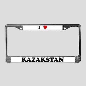 I Love Kazakstan License Plate Frame