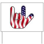 I Love America Yard Sign