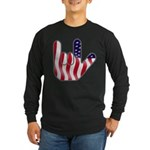 I Love America Long Sleeve Dark T-Shirt