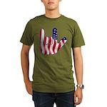 I Love America Organic Men's T-Shirt (dark)