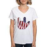 I Love America Women's V-Neck T-Shirt