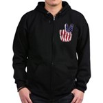 Peace America Zip Hoodie (dark)