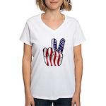 Peace America Women's V-Neck T-Shirt