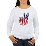 Peace America Women's Long Sleeve T-Shirt