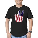 Peace America Men's Fitted T-Shirt (dark)