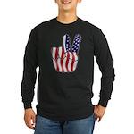 Peace America Long Sleeve Dark T-Shirt