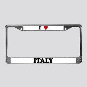 I Love Italy License Plate Frame