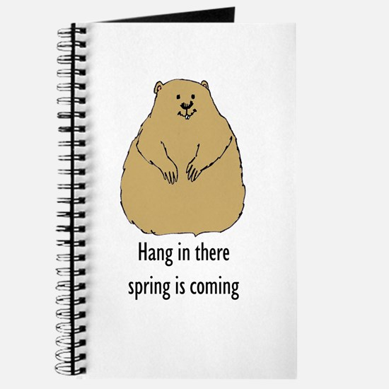 hang in there groundhog Journal
