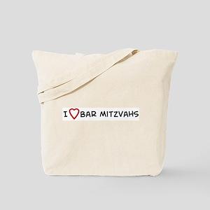 I Love Bar Mitzvahs Tote Bag