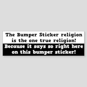 The One True Religion Sticker (Bumper)
