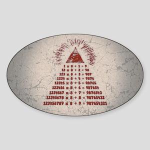 Mathemagic Sticker (Oval)