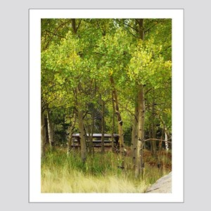 Aspens and the Picnic Table Small Poster
